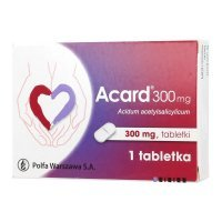 Acard, tabletki, 300mg, 1 tabletka