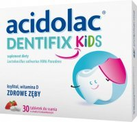 Acidolac Dentifix Kids, tabletki do ssania, 30 tabletek