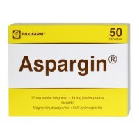 Aspargin, 500mg, 50 tabletek