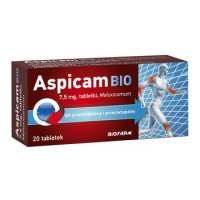 Aspicam Bio, 7,5mg, 20 tabletek