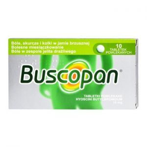 Buscopan, 10mg, 10 tabletek