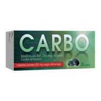 Carbo medicinalis MF, 0,25g, 20 tabletek