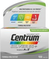 Centrum Silver 50+, Multieffect, 100 tabletek