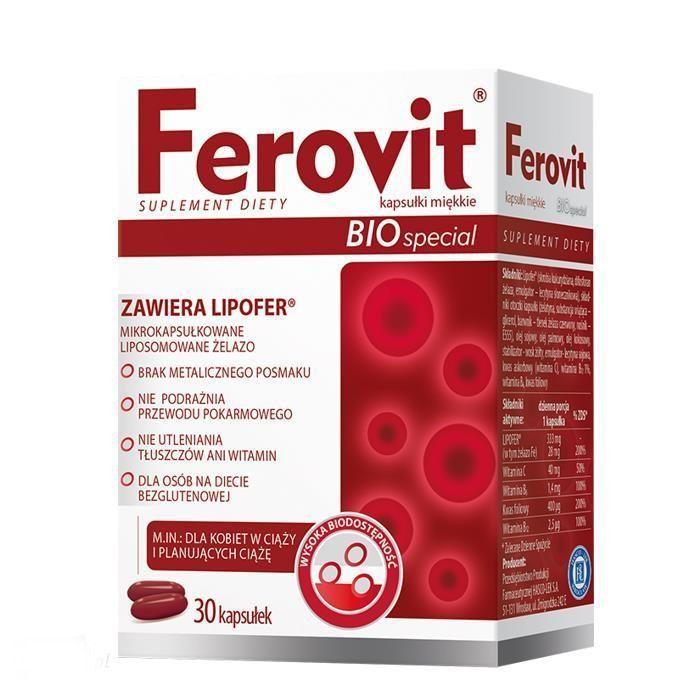 42dc375c0b08bb Ferovit Bio Special, 30 kapsułek - Witaminy dla kobiet w ciąży ...