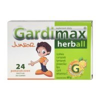 Gardimax Herball Junior, pastylki do ssania, 24szt
