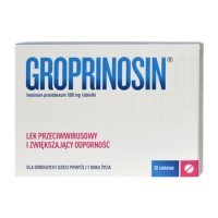 Groprinosin, 500mg, 20 tabletek