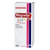 Magnefar B6 Junior, płyn, smak malinowy, 120ml