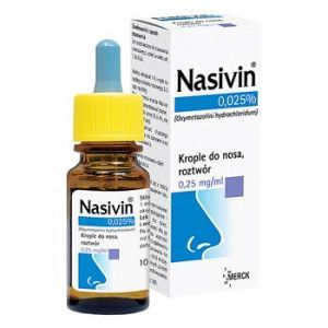 Nasivin 0.025% (0,25 mg/ml), krople do nosa, 10ml