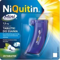Niquitin Mini, 1,5 mg, tabletki do ssania, 20 szt.