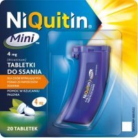 NiQuitin Mini, tabletki do ssania, 4 mg, 20 tabletek