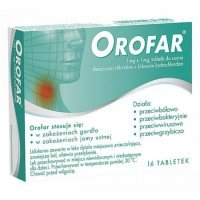 Orofar Total Action , 1 mg + 1 mg, 16 tabletek do ssania