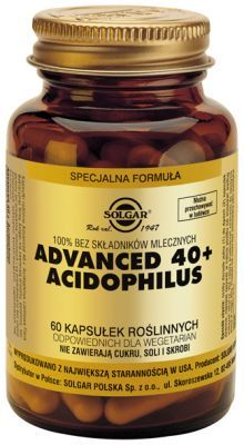 SOLGAR, Advanced 40+ Acidophilus, 60 kapsułek