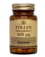 SOLGAR, Folian (Metafolin) 400 µg, 50 tabletek