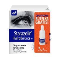 Starazolin HydroBalance PPH, krople do oczu, 3x5 ml